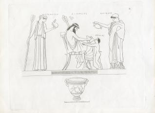 Dioniso y Ariadna junto a Como y Tragedia