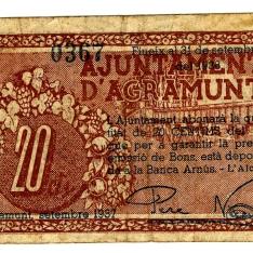 Billete de veinte céntimos