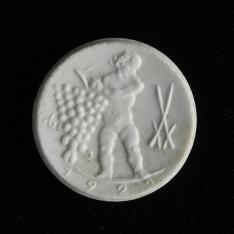 Moneda de cincuenta pfennig (dos piezas)