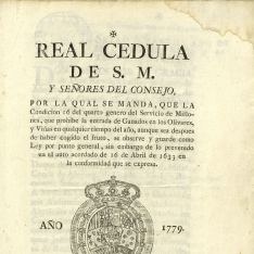 Reales cédulas - 1779, abril, 13 post. Madrid