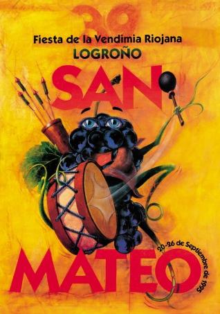 Cartel anunciador de la XXXIX Fiesta de la Vendimia Riojana (Logroño)