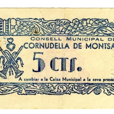 Billete de cinco céntimos