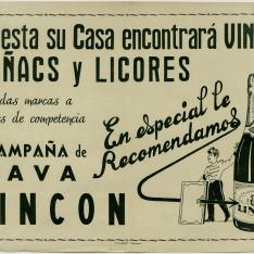 Cartel publicitario de cava Lincon