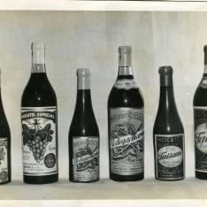 Botellas de Moscatel