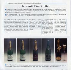 Folleto publicitario del Champagne Launois Père & Fils. Le Mesnil-Sur-Oger