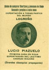 """Colección de doce cromos con publicidad de """"Lucio Piazuelo"""""""