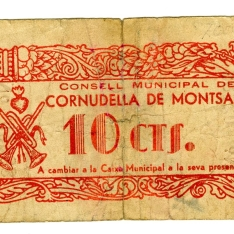 Billete de diez céntimos