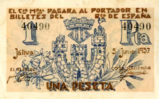 Billete de una peseta