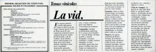 """Folleto selección de vinos para socios fundadores del Club privado """"Mester del Vino"""", Haro (La Rioja). 1983"""