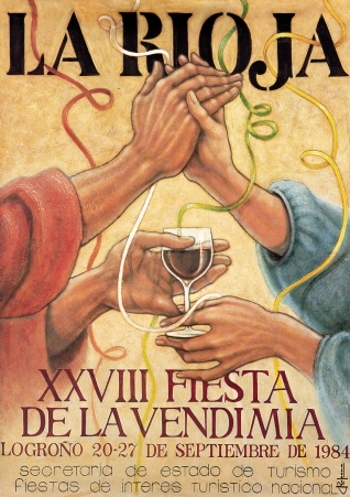 Cartel anunciador de la XXVIII Fiesta de la Vendimia Riojana (Logroño)