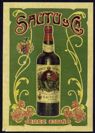 Cartel publicitario de Sautu y Cía