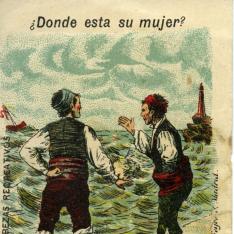 """Tarjeta publicitaria. Chocolates y cafés """"Piazuelo"""""""