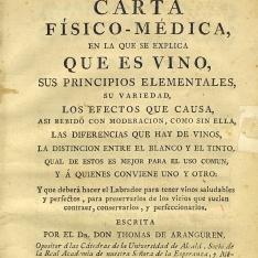 Carta físico-médica, en la que se explica que es vino, [... etc.]