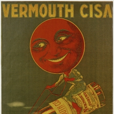 Cartel publicitario de Vermouth Cisa
