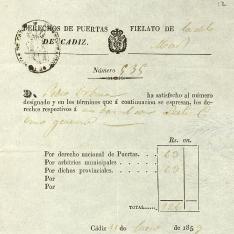 Recibos, letras y facturas - 1853