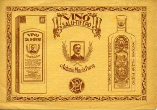 Vino salu-tífero, poderoso reconstituyente. Antonio Muzás Pueyo. [192?]