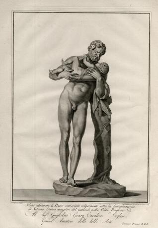 Sileno con Baco en brazos