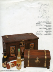 "Folleto publicitario de vinos ""Faustino"", ""Grandes vino de Rioja"""
