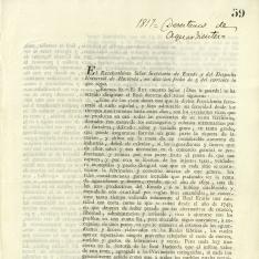 Correspondencia - 1817, noviembre, 5 h.