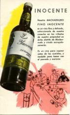 Folleto publicitario. Vinos de Jerez y coñac Valdespino.