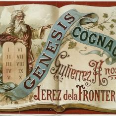 Cartel publicitario de Coñac Génesis