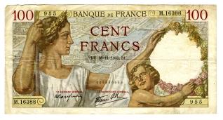 Billete de cien francos