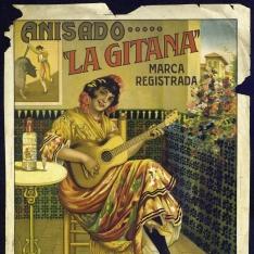 Cartel publicitario de Antonio Merchán Aranda - Anisado la Gitana