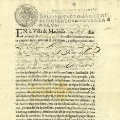 Escrituras de obligación - 1699, octubre, 2. Madrid
