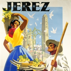 Cartel anunciador de la Fiesta de la Vendimia de Jerez