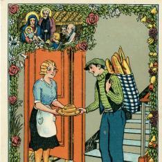 Felicitación de Navidad del panadero