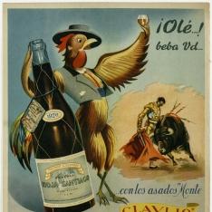Cartel publicitario de Bodegas Rioja Santiago