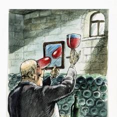 Le coleur du vin
