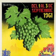 Cartel anunciador de la Fiesta de la Vendimia Montilla