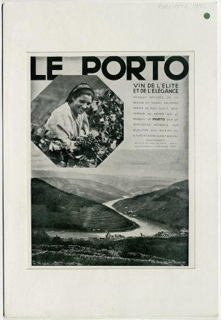 Cartel publicitario de vino Le Porto