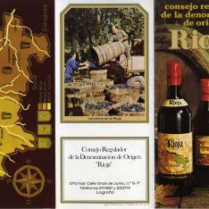 Folleto informativo del Consejo Regulador de la Denominación de Origen de Rioja. 1975