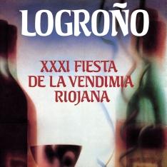 Cartel anunciador de la XXXI Fiesta de la Vendimia Riojana (Logroño)