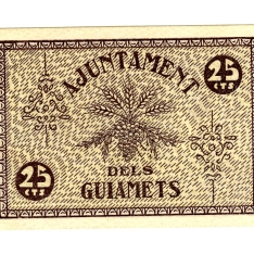 Billete de veinticinco céntimos