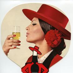 Pai-pai publicitario de vino de Jerez de Bodegas González Byass. [ca. 1976]