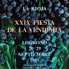 Cartel anunciador de la XXIX Fiesta de la Vendimia Riojana (Logroño)