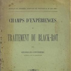 Champs d'expériences et traitement du black-rot