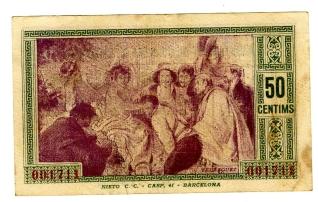 Billete de cincuenta céntimos