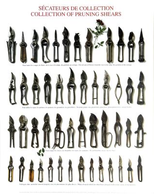 Cartel/Lámina con tijeras de podar de colección