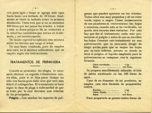 Compendio vulgarizador sobre las plagas del campo. Tratamientos en árboles frutales. 1937