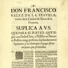 Pleitos - 1725, abril, 4. Granada