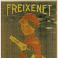 Cartel publicitario de Freixenet