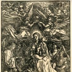 La virgen como reina de los ángeles