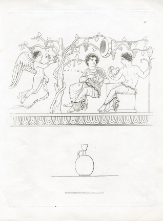 Vase of parfum, representing Bacchus and Arianna, from Anzi