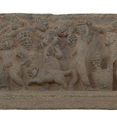 Relieve con escena de vendimia