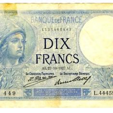 Billete de diez francos