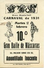 """Publicidad de vino """"Amontillado Inocente"""". 1931"""